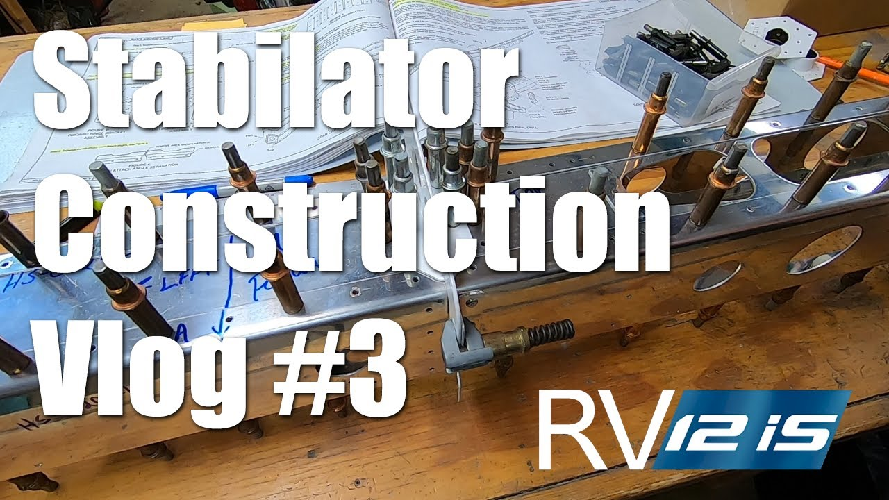 Vans RV-12iS Stabilator Construction - Upper and Lower Cable Attach Horns Assembly: Vlog #3