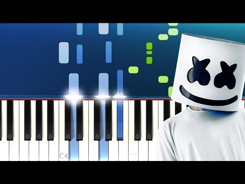 Marshmello - Here With Me Ft CHVRCHES  (Piano Tutorial)