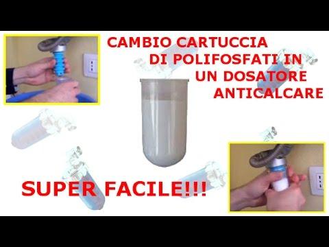 Cambio cartuccia su dosatore Anticalcare di Polifosfati