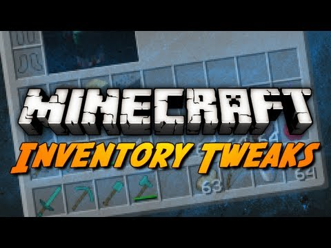 Minecraft Mod Review: INVENTORY TWEAKS MOD!