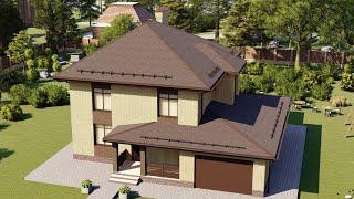 Проект дома 159-A, Площадь дома: 159 м2, Размер дома:  13x11,6 м