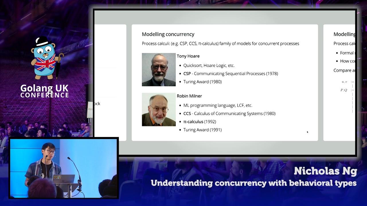 Understanding concurrency with behavioural types
