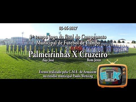 1 Tempo Jogo Palmeirinhas X Cruzeiro em Armazém SC