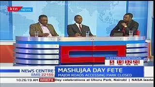 Major roads accessing Uhuru park have been closed ahead of Mashujaa day celebrations