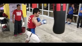 Manny Pacquiao Boxing Workout - October 20 | Pacquiao Vs Vargas | #TeamLegend