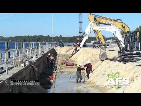 In addition to completing hundreds of residential projects annually, Alpha Foundations also has a strong presence in the commercial sector. Here, we repaired this seawall built in the 1950s after it began to fail. Watch the video to learn more and visit our website to read all our case studies.