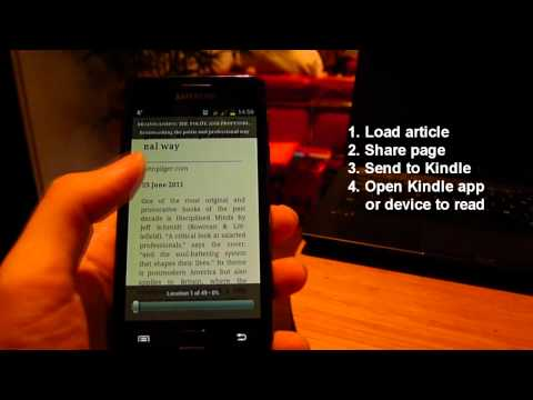 Video of Push to Kindle