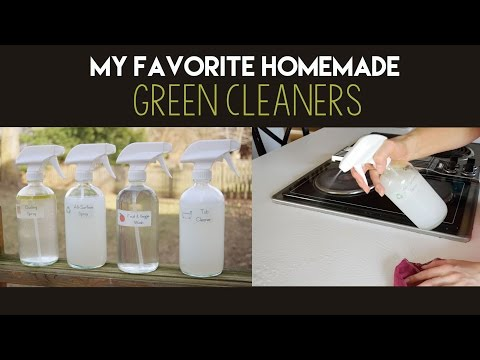 My Favorite Homemade Green Cleaners