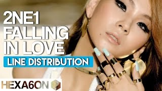 2NE1 - Falling In Love Line Distribution (Color Coded)