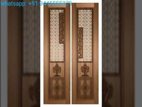Puja Door Design Pooja room doors carving door design