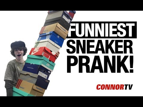 Download Carrying My Entire Sneaker Collection  Funniest Sneaker PRANK SneakerCon HD Mp4 3GP Video and MP3
