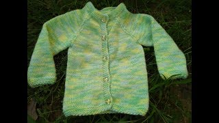 Knitting Raglan Sweater for New Born Baby ( Part - 1 )