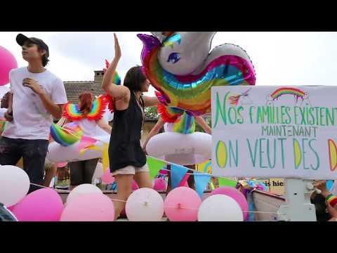 Gay Pride alias Marche des Visibilités à STRASBOURG 09 juin 2018. Vidéo POUSSIN 3/6
