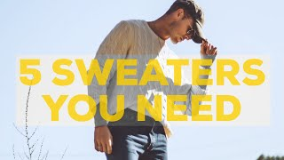 5 BEST SWEATERS for Men | Fall Fashion | Parker York Smith