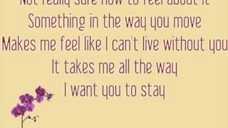 Rihanna - Stay Lyrics