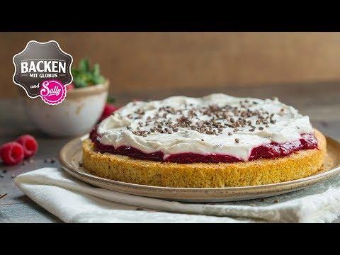 Glutenfreie Erdbeer-Himbeertorte   Backen mit Globus & Sallys Welt #87