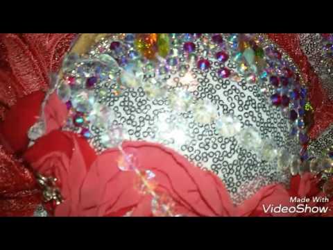 Korallfarbenes Kostüm - Bauchtanzkostüm selbst genäht