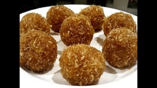 Tips To Get Juicy And Soft Coconut Laddu | Jaggery Coconut Laddu Recipe | Coconut Jaggery Laddu