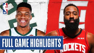 The Houston Rockets defeated the Milwaukee Bucks 120-116 in Orlando. James Harden (24 PTS, 7  REB, 7 AST) and Russell Westbrook (31 PTS, 6 REB and 8 AST) led the Rockets to victory while Giannis tallied 36 PTS, 18 REB and 8 AST for the Milwaukee Bucks. Antetokounmpo has now tallied 6 games this season with 35+ points, 15+ rebounds and 5+ assists, passing David Robinson (1993-1994) for the most such games in a single-season since the NBA absorbed the four ABA teams in 1976.  Next Games: Nets at Bucks - August 4 at 1:30 pm/et on NBATV Rockets at Trail Blazers - August 4 at 9:00 pm/et on TNT  Subscribe to the NBA: https://on.nba.com/2JX5gSN 