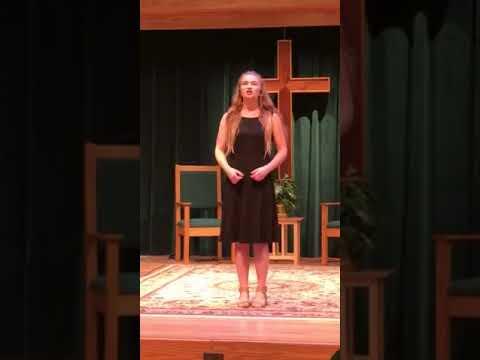 Talented Music by Roberta student singing Sebben Crudele