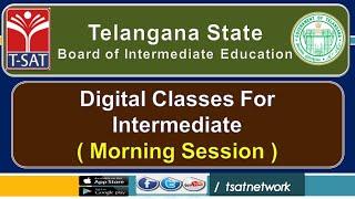 T-SAT || Digital Classes for Intermediate || 19-09-2020 || Board of Intermediate Education - TS