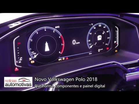 Novo Polo 2018 - Painel digital e componentes - NoticiasAutomotivas.com.br
