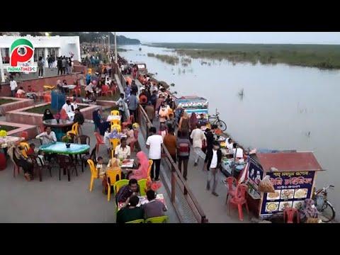 ভরা পদ্মা আতঙ্কিত করলেও কাছে টানে বিনোদন পিয়াসীদের