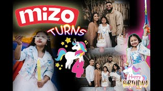 MIZO 4TH BIRTHDAY PARTY
