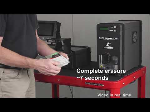 Video of the Garner HD-2XTE Continuous Duty Degausser Shredder