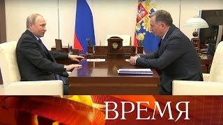 Владимир Путин встретился с новым главой Олимпийского комитета России Станиславом Поздняковым.