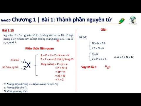 ✔ Hóa10  PPTìm nhanh số p,n,e và A trung bình của X (Chương 1 hóa 10)