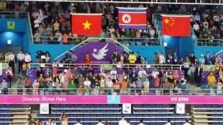 North Korean National Anthem - Gold Medal Balance Beam - Asian Games 2014