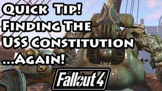 Fallout 4 - Finding the USS Constitution...Again - 4K Ultra HD