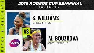 Serena Williams vs. Marie Bouzkova | 2019 Rogers Cup Semifinal | WTA Highlights