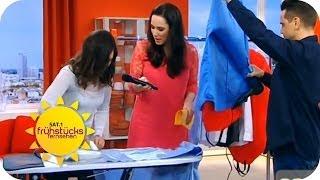 Bügeln leicht gemacht mit der Bügel-Meisterin | Sat.1 Frühstücksfernsehen
