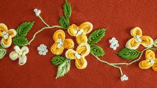 Easy DIY Flower: Hand Embroidery Pattern By HandiWorks
