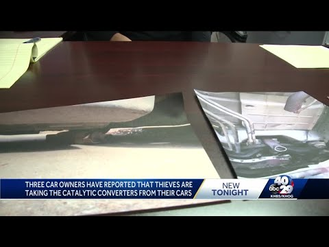 Three car owners have reported that thieves are taking the catalytic converters from their cars