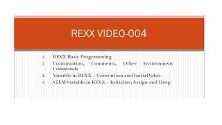 REXX Programming - 004 (REXX Basics, Variables and Stem)