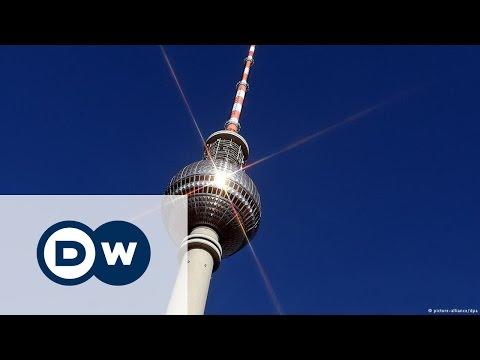 Берлинская телебашня - вид на столицу с