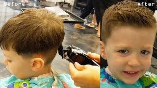How To Cut Little Boys Hair With Clippers & Scissors + Blending And Cowlick Instruction