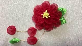 着物 浴衣髪飾り  How To Make Kanzashi Flower