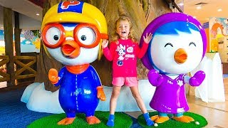 Pororo and Milusik play with kids toys
