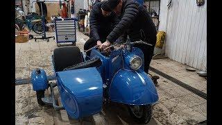 Редчайший мотороллер с коляской из 1964 года!