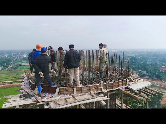 Flycam 4k Đổ Mái Tầng 13 Đại Tượng Phật A Di Đà Chùa Khai Nguyên