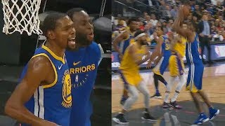 Kevin Durant Trash Talks Javale McGee With Draymond After He Gets Dunked On! Lakers vs Warriors