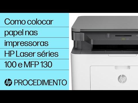 Como colocar papel nas impressoras HP Laser séries 100 e MFP 130