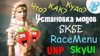 Skyrim[Установка модов Скайрим]SKSE,SkyUI,Racemenu,UNP.
