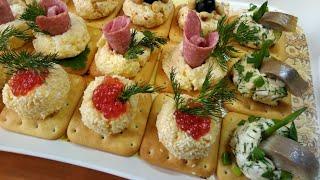 Новогодняя закуска из сыра на сырных крекерах.(4 вкусных рецепта).