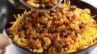 Cheesy Skillet Beefaroni - 30 Minute Meal