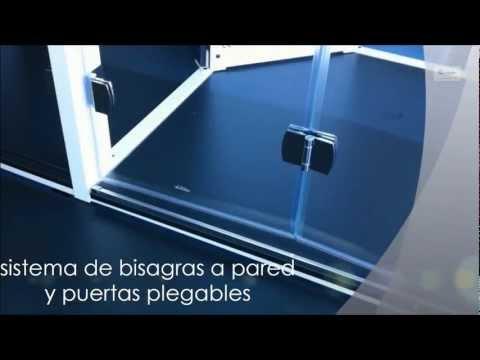 PRO-NG218- Mampara de ducha Esbath  2 PUERTAS PLEGABLES BISAGRA